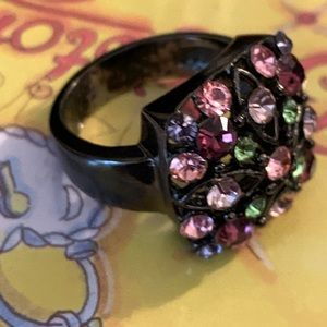 Women's Bedazzled Multi Gem Ring